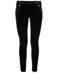 Pantalones pitillo de terciopelo negros de Stella McCartney