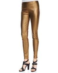 Pantalones pitillo dorados