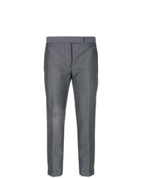 Pantalones pitillo en gris oscuro de Thom Browne
