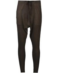 Pantalones pitillo en marrón oscuro