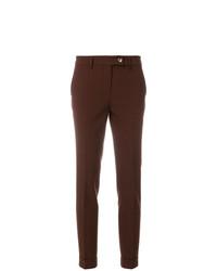 Pantalones pitillo en marrón oscuro de Meme