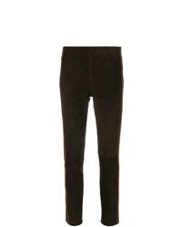 Pantalones pitillo en marrón oscuro de P.A.R.O.S.H.