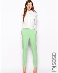 Pantalones pitillo en verde menta