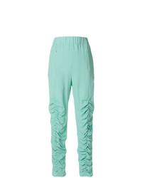 Pantalones pitillo en verde menta de Veronique Leroy