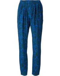Pantalones pitillo estampados azules de Stella McCartney