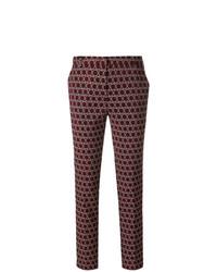 Pantalones pitillo estampados burdeos de Kiltie