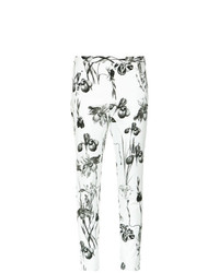 Pantalones pitillo estampados en blanco y negro de Andrea Marques