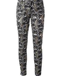 Pantalones pitillo estampados en blanco y negro de Kenzo