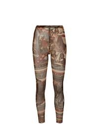 Pantalones pitillo estampados en multicolor de Jean Paul Gaultier Vintage