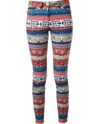 Pantalones pitillo estampados en multicolor de Kenzo