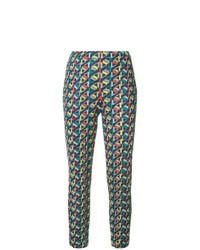 Pantalones pitillo estampados en multicolor de Pleats Please By Issey Miyake