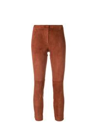 Pantalones pitillo marrónes de Theory