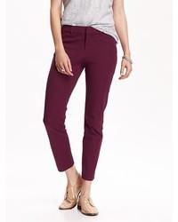 Pantalones pitillo morado oscuro