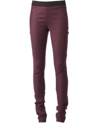 Pantalones pitillo morado oscuro de Ann Demeulemeester