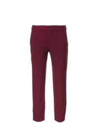 Pantalones pitillo morado oscuro de Chloé