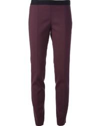 Pantalones pitillo morado oscuro de Forte Forte