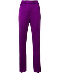 Pantalones pitillo morado de MSGM