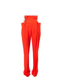 Pantalones pitillo naranjas de Litkovskaya