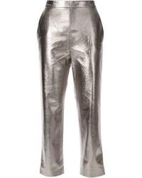 Pantalones pitillo plateados de MSGM