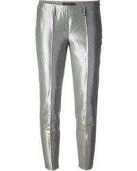 Pantalones pitillo plateados de Peachoo+Krejberg