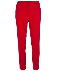 Pantalones pitillo rojos
