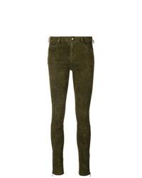 Pantalones pitillo verde oliva de Arma
