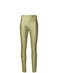 Pantalones pitillo verde oliva de Jean Paul Gaultier Vintage
