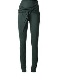 Pantalones pitillo verde oscuro de Anne Valerie Hash