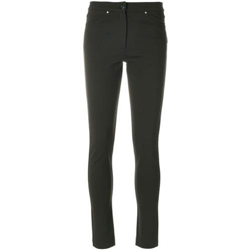 Pantalones pitillo verde oscuro de D-Exterior