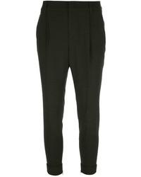 Pantalones pitillo verde oscuro de Gucci