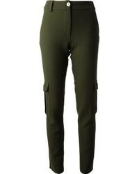 Pantalones pitillo verde oscuro de Munich