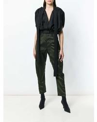 Pantalones pitillo verde oscuro de Haider Ackermann