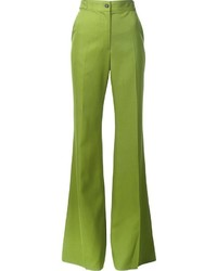 Pantalones plisados verde oliva de Rochas