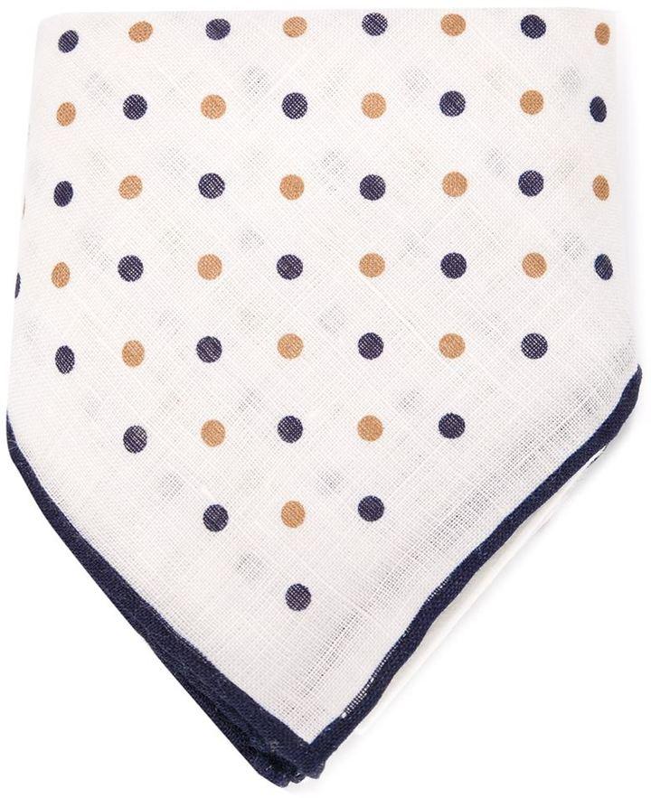 Pañuelo de bolsillo a lunares blanco de Brunello Cucinelli