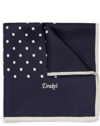 Pañuelo de bolsillo a lunares en azul marino y blanco