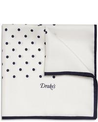 Pañuelo de bolsillo a lunares en blanco y azul marino