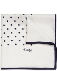 Pañuelo de bolsillo a lunares en blanco y negro
