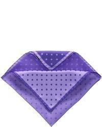 Pañuelo de bolsillo a lunares en violeta