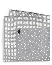Pañuelo de bolsillo a lunares gris