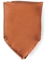 Pañuelo de bolsillo a lunares marrón de Mr Start