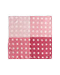 Pañuelo de bolsillo a lunares rosado