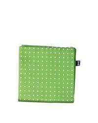 Pañuelo de bolsillo a lunares verde oliva