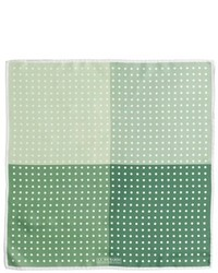 Pañuelo de bolsillo a lunares verde