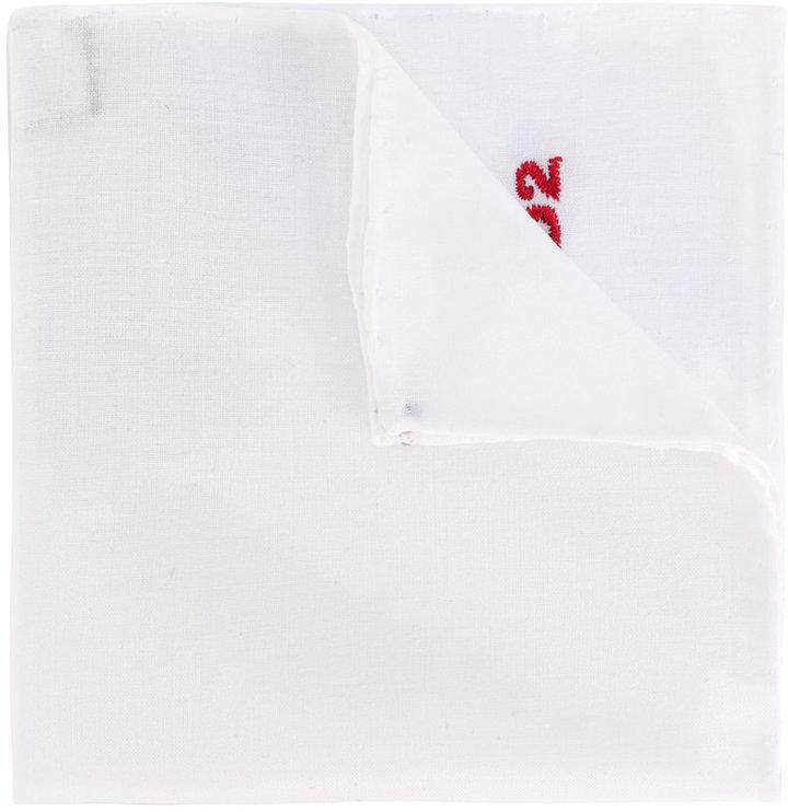 Pañuelo de bolsillo blanco de DSQUARED2