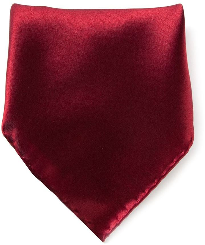 Pañuelo de bolsillo burdeos de Brioni