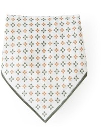 Pañuelo de bolsillo con print de flores blanco de Brunello Cucinelli