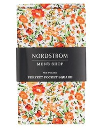 Pañuelo de bolsillo con print de flores naranja