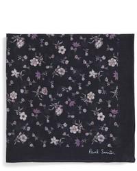 Pañuelo de bolsillo con print de flores negro