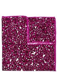 Pañuelo de bolsillo con print de flores rosa