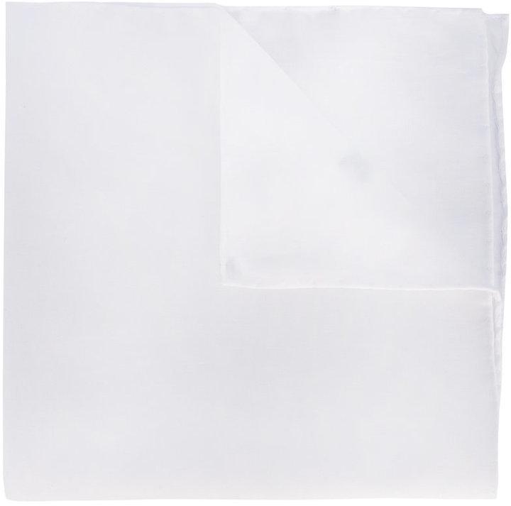 Pañuelo de bolsillo de algodón blanco de fe-fe